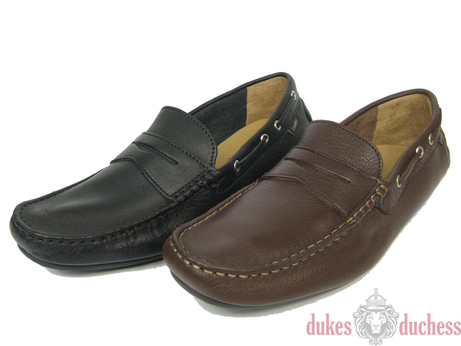 LOAKE Lifestyle HEALEY Uomo Pelle Loafer mocassino pantofola nero/Marrone 40-47