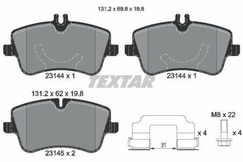2314401 TEXTAR CAR BRAKE PADS Front