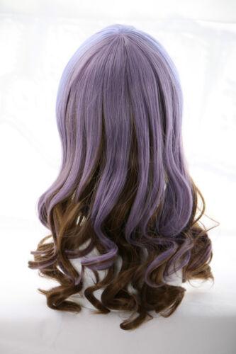 W-20 lila braun purple brown mix 50cm Harajuku Lolita Locken COSPLAY Perücke WIG