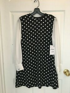 ZARA SS 2019 Ecru Midi POLKA DOT WRAP Dress S Bloggers Fav