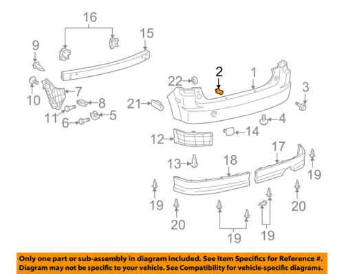 Scion TOYOTA OEM 04-06 xB Rear Bumper-Bumper Cover Clip 9054109107