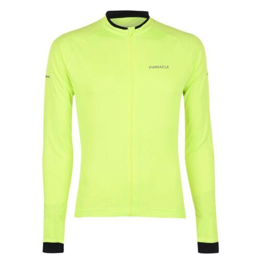 Pinnacle Mens Long Sleeve Cycling Jersey Cycle Top Zip