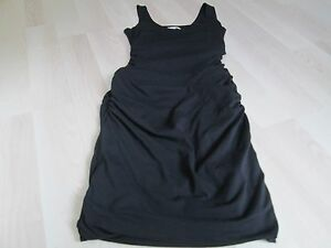 BODEN-LADIES-BLACK-ROUCHED-SIDE-DRESS-SIZE-10R