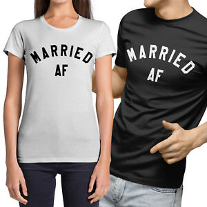 Just Married Wedding Hen Party Funny Ladies T-Shirt Size S-XXL