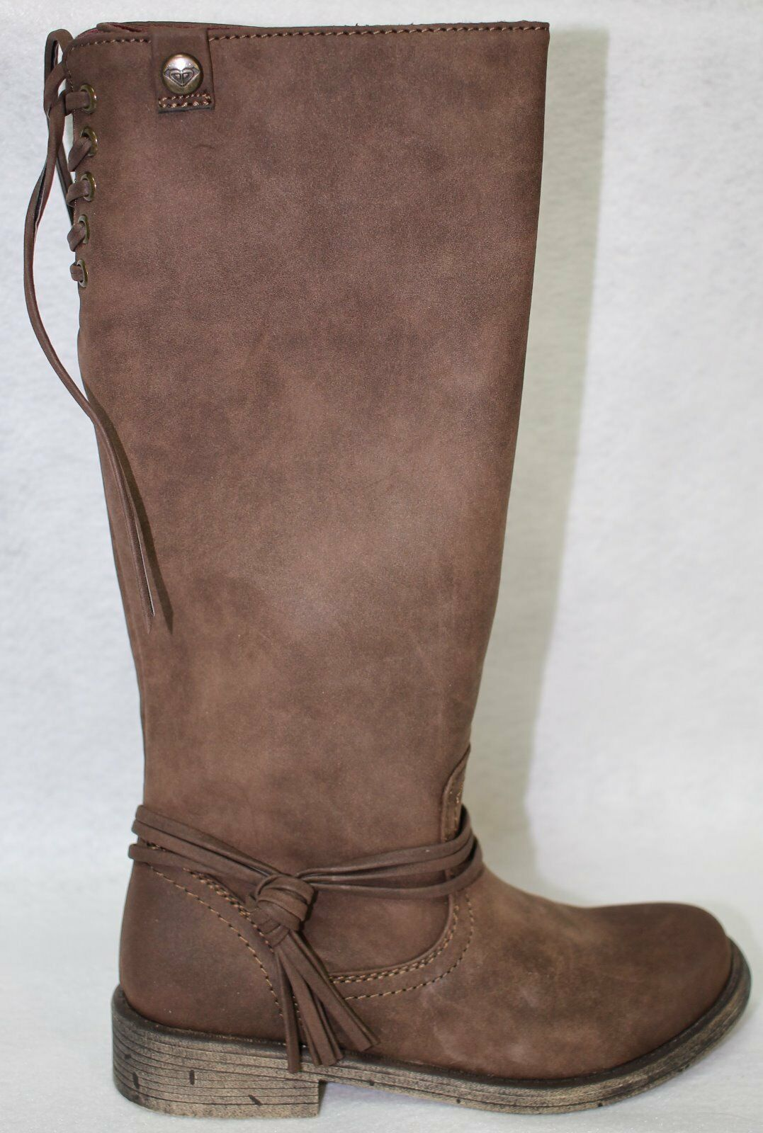 Roxy Rider J Brown Women Round Toe Synthetic Knee High Boot Size 7