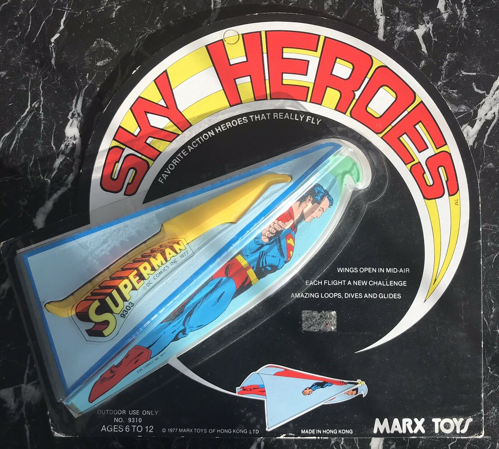 VINTAGE 1977 MARX SUPERMAN SKY HEROES FLYING TOY  MIP  RARE