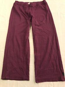 prana breathe womens sm cropped yoga pants purple