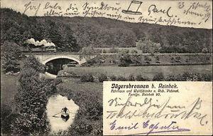Jaegersbronnen-bei-Reinbek-AK-1907-Waldschaenke-Pichinof-Lokomotive-Zug-gelaufen