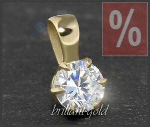 Diamant-585-Gold-Damen-Anhaenger-0-58-ct-Top-Wesselton-F-amp-VS-Diamantanhaenger