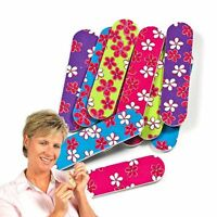 Girly Mini Emery Boards Nail Manicure Pedicure File Floral Flower Hawaiian Multi
