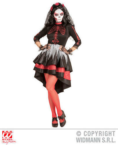 Femme Femmes Mexicain Day of the Dead Mariée Halloween Fancy Dress Costume Outfit