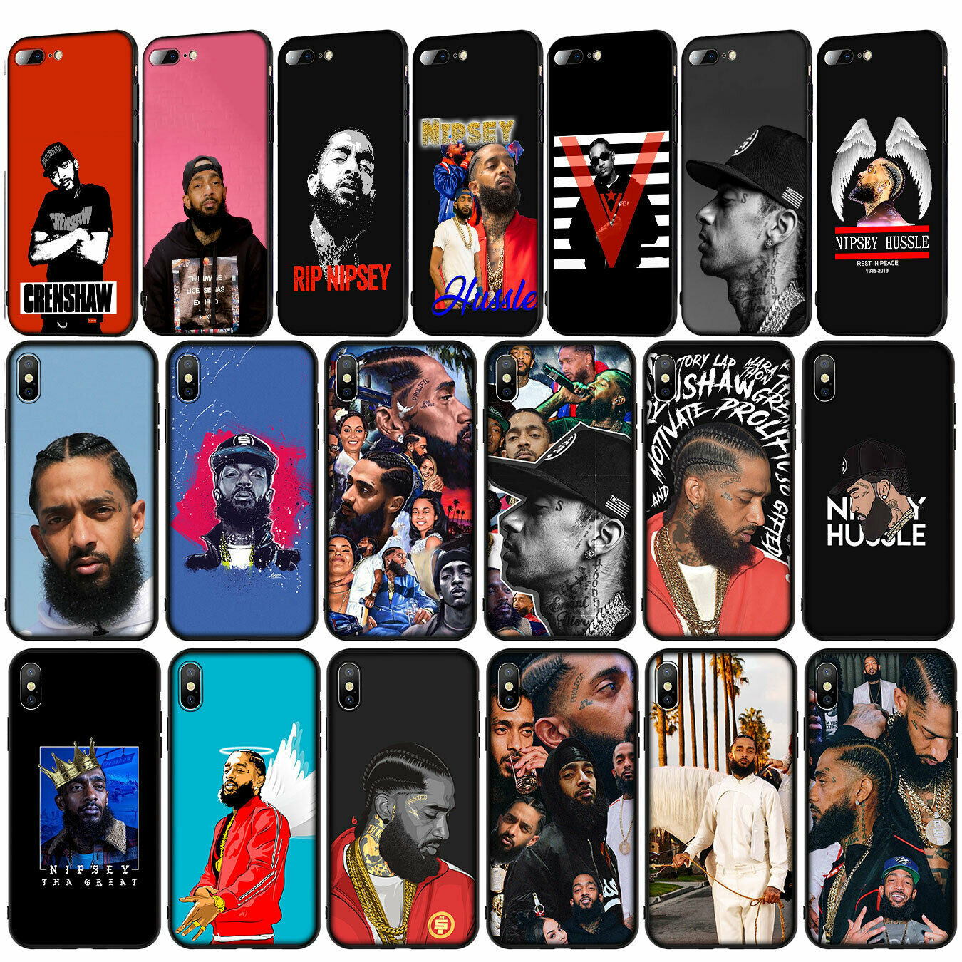 Headband Inspired by Nipsey Hussle Phone Case Compatible With Iphone 7 XR 6s Plus 6 X 8 9 11 Cases Pro XS Max Clear Iphones Cases TPU Blanket 4000096741897 Plus Blue Blanket