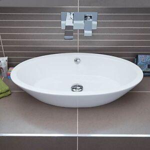 Wash Basin Bathroom Sink. Image Is Loading Counter Top Basin White Ceramic Oval Shape Sink