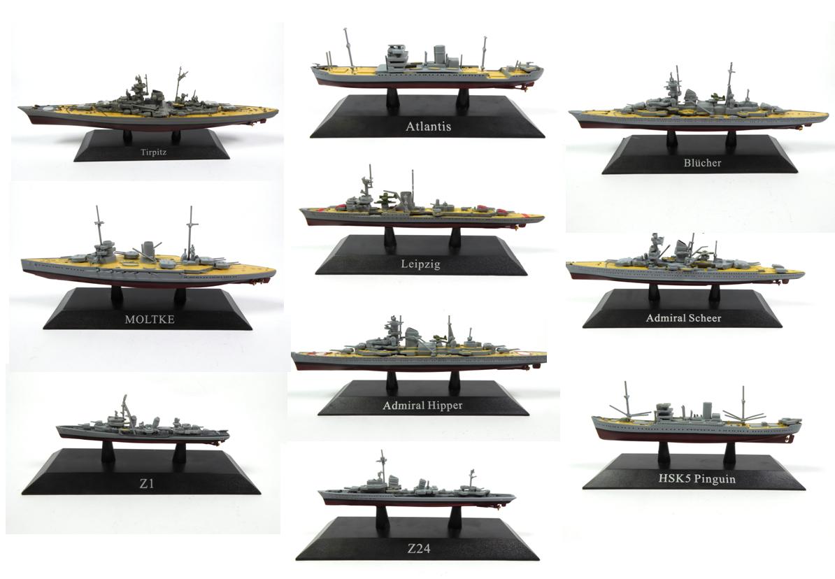 grande sconto Set of 10 Geuomo military battleships nazi Kriegsmarine WW2 WW2 WW2  - 1 1250 WSL6  la migliore moda