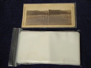 100-STEREOVIEW-Stereoscopic-Photo-SLEEVES-Pack-Lot-2-5-Mil-Poly-ARCHIVAL-SAFE