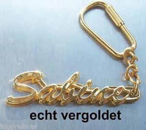 Büro & Schreibwaren GroßZüGig Edler SchlÜsselanhÄnger Sabine Echt Vergoldet Gold Name Keychain Keyring Uhren & Schmuck