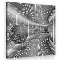CANVAS Wandbild Leinwandbild Bild Kunst Tunnel 3D Modern Korridor 3FX10079O5