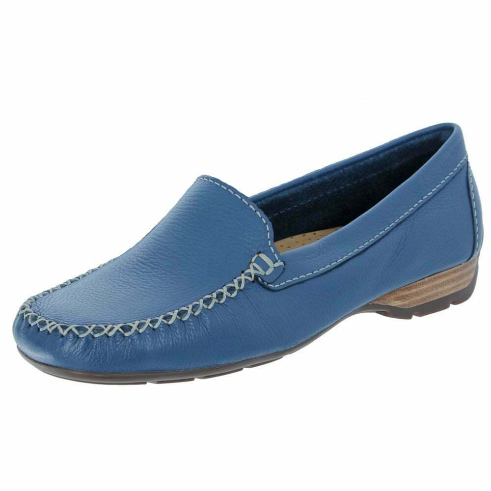 fino al 60% di sconto Van Dal Dal Dal SANSON Denim blu pelle mocassino moccasin Shoe  n ° 1 online