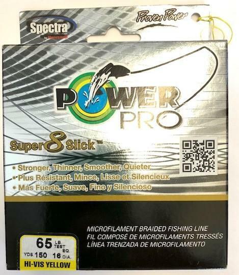 Power Pro Super 8 Slick 65lb 1500 Yard Yellow for sale online