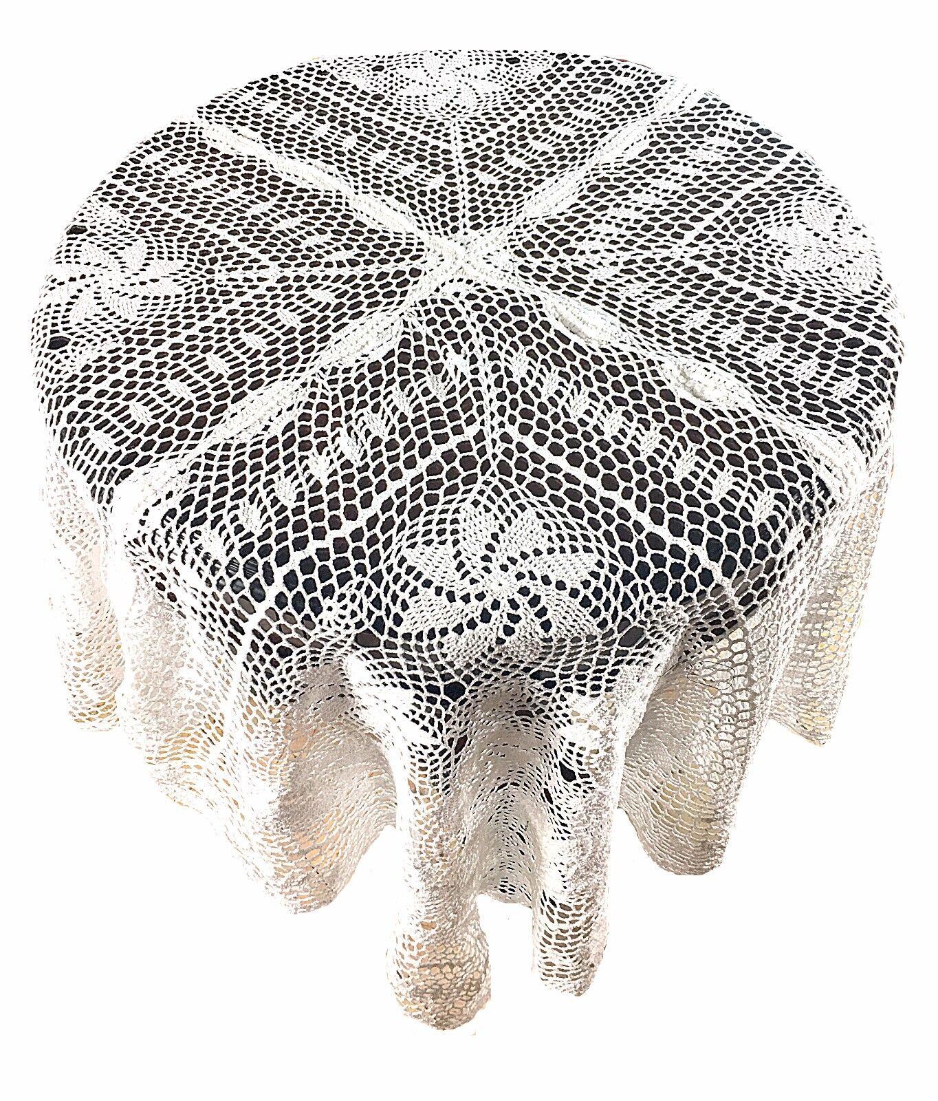 Dinning Cuisine Home Handmade Crochet en Dentelle Vintage Table Housse Nappe 60 x60