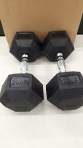 HEX RUBBER COATED DUMBBELL(15,20,25,30,40 lbs) different sizes available Oshawa / Durham Region Toronto (GTA) Preview