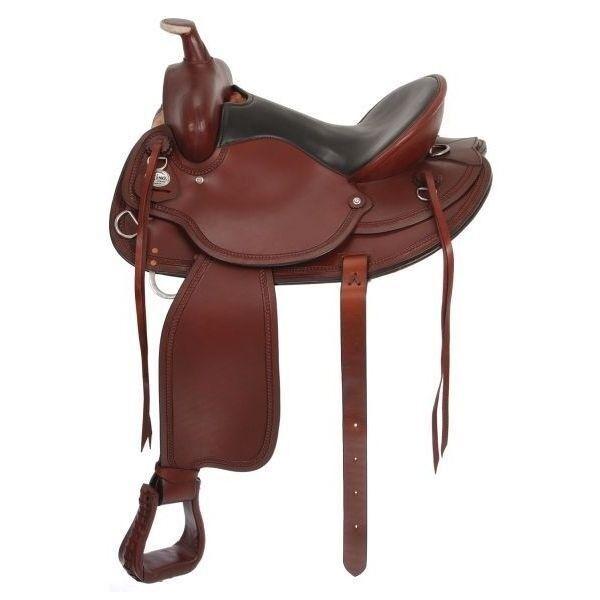 Tough1 King Series Draft Horse Western Saddle 8.5 Gullet 15 12 Marroneee