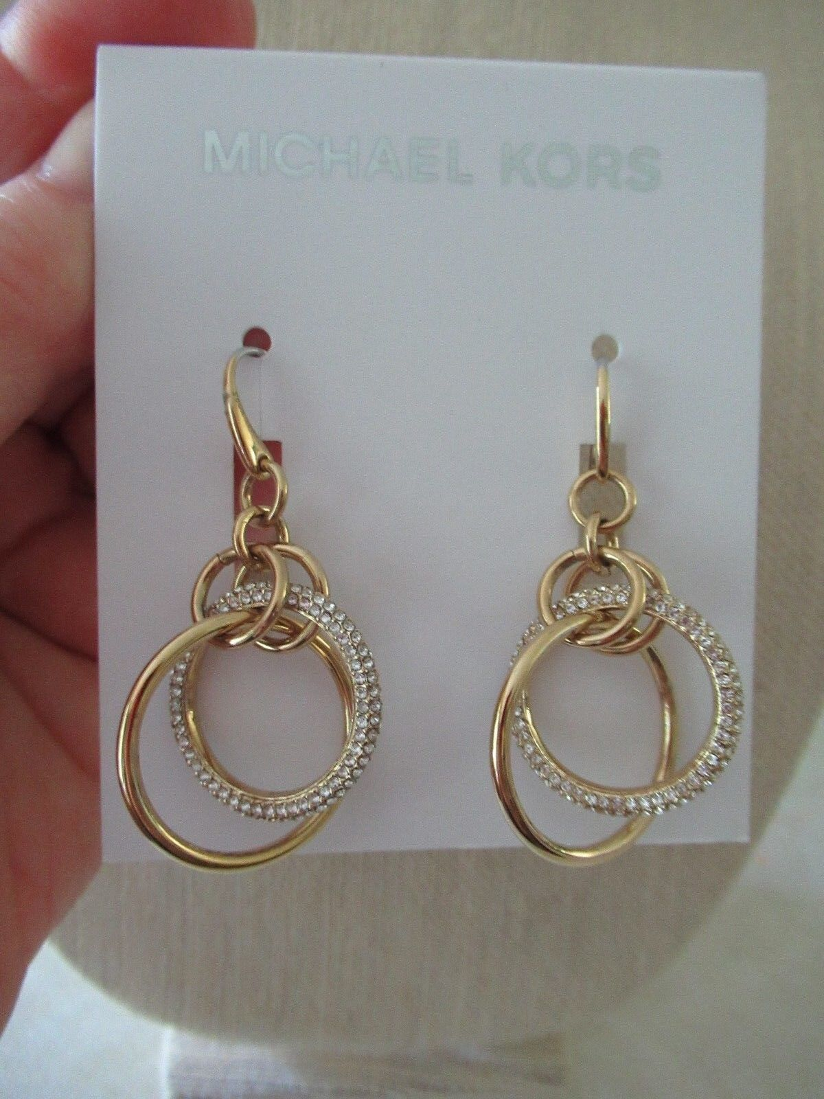 742a551f4 Michael Kors Brilliance Pave Rose Gold Crystal Orbital Drop Earrings ...