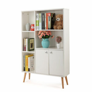 Details About Bookcases With Drawers Bookshelf And Book Shelves 5 Shelf Case 4 Foots Kids Room