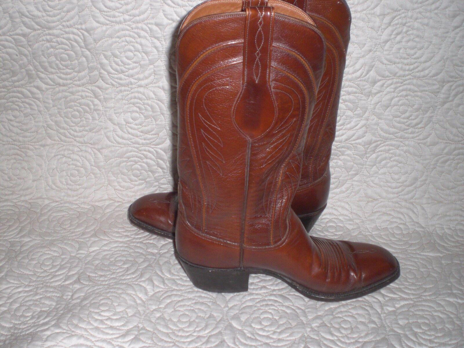 VINTAGE Lucchese L6609 L6609 L6609 Brown Western Cowboy GOAT LEATHER Stivali SIZE 8 D   895 0f85dd