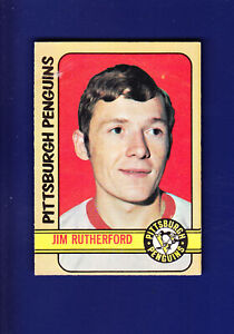 Jim-Rutherford-RC-1972-73-O-PEE-CHEE-OPC-Hockey-15-VG-Pittsburgh-Penguins