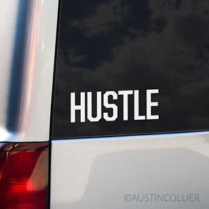 HUSTLE-Vinyl-Decal-Car-Truck-Laptop-Sticker-Motivational-Inspirational-Phrase