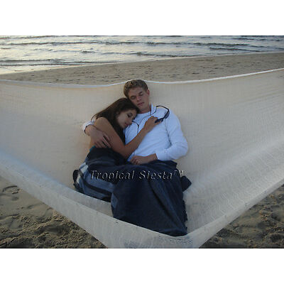 NEW COTTON Mexican Mayan Hammock  UNQUE FAMILY WHITE  | Breezy Point Hammocks