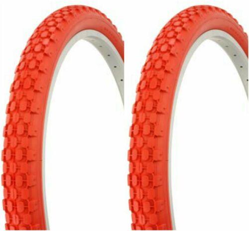 "26x2.125/"" RED BEACH CRUISER BIKE BICYCLE KNOBBY FITS SCHWINN S2 RIM TIRES"
