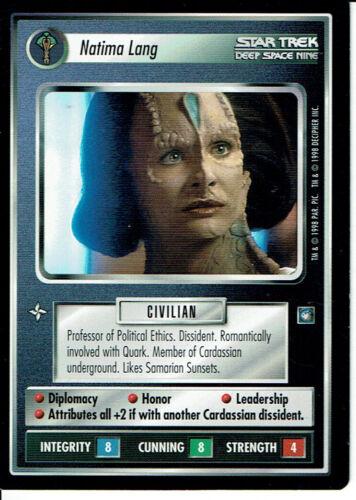 Star Trek Ccg DS9 Selten Karte Natima Lang