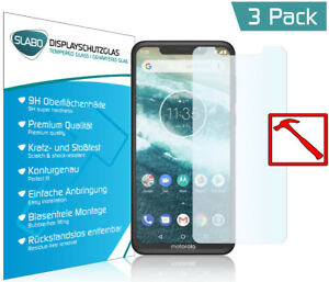 "3 X Slabo Premium Blindée Film Pour Motorola One Clairement ""tempered Glass"" 9 H-e Für Motorola One Klar ""tempered Glass"" 9hfr-fr Afficher Le Titre D'origine"