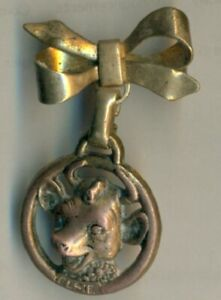Elsie The Cow Lapel Pin w/Ribbon on Top