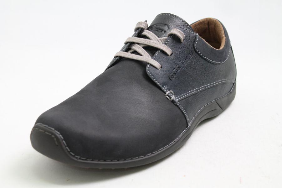 Camel active Schuhe blau Leder komfort Wechselfußbett Dämpfung
