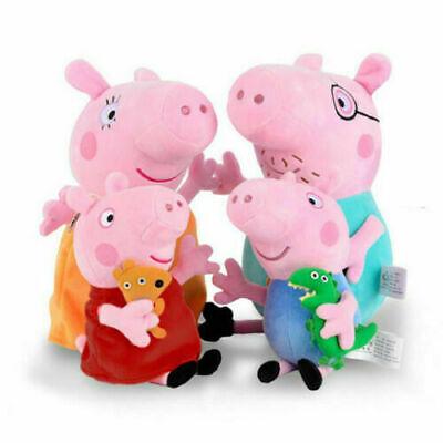 4 Stück Peppa Pig Plüsch Puppe Schweine Peppa Wutz Familie Stofftier Plüschtiere