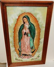 "A.M.RODRIGUEZ ""OUR LADY OF GUADALUPE"" ORIGINAL OIL ON CANVAS PAINTING"