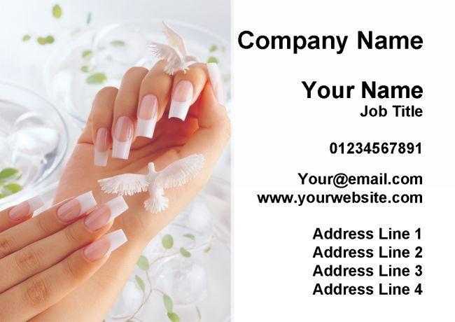 Femmeucure Pédicure Ongle Salon Beauté cartes de visite personnalisées personnalisées personnalisées 77000a