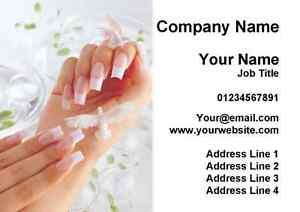 Manucure Pedicure Ongle Salon Beaute Cartes De Visite
