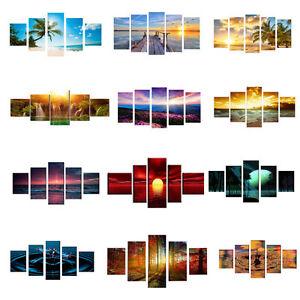 5pcs-Modern-Art-Oil-Landscape-Painting-Canvas-Print-Wall-Art-Picture-Room-Decor