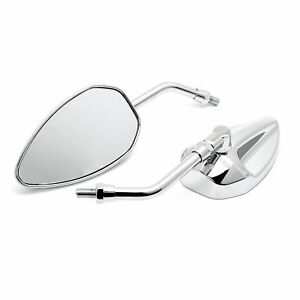 Custom-Mirror-Conehead-Mech-Chrome-with-Approval-M10-Motorcycle