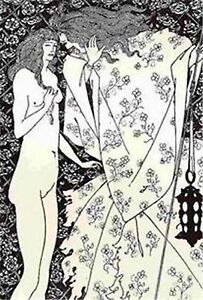 Aubrey-Beardsly-1899-litho-039-Mysterious-Rose-Garden-039-from-Salome-by-O-Wilde