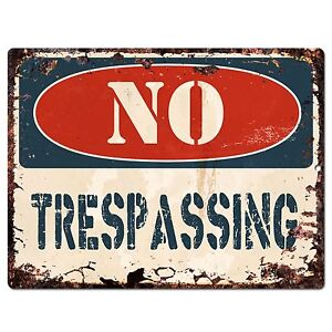 PP1372-NO-TRESPASSING-Plate-Rustic-Chic-Sign-Home-Store-Shop-Decor-Gift