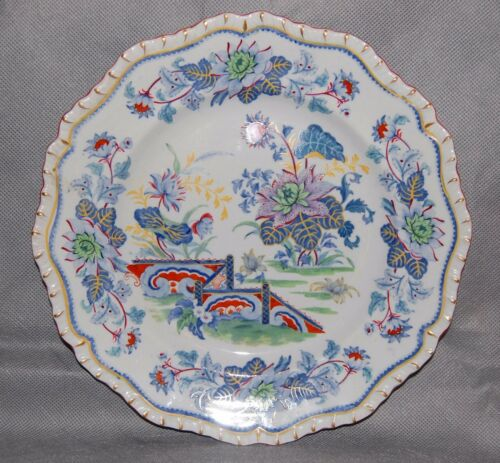 """Hicks /& Meigh English Staffordshire Pottery 10 1//2/"""" Dinner Plate Pattern 21 24"""