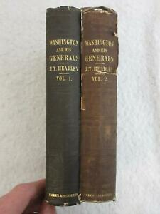 Headley WASHINGTON AND HIS GENERALS 1847 Baker and Scribner, NY 1stEd 2 Vol's