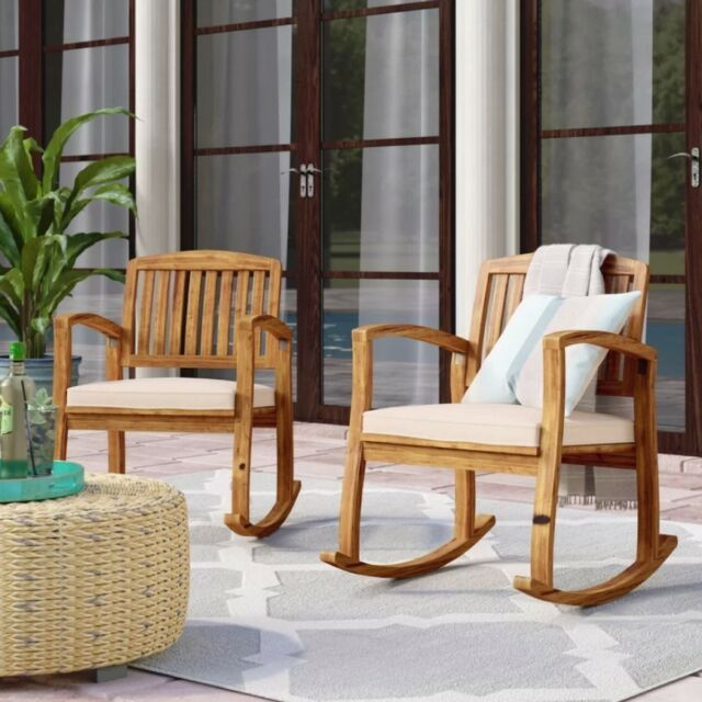 Outdoor Rocking Chair Set Of 2 Patio