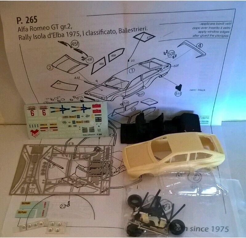 TRON KIT 143  P265 ALFA ROMEO ALFETTA GTV GR.2 Rtuttiy Elba 1975 Winner