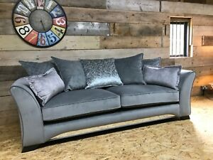 Ashley-Manor-4-str-sofa-grey-silver-chrome-fabric-velvet-retro-60s-70s-style